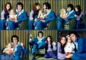 Familie kiekje van de Presley's in gelukkiger tijden...